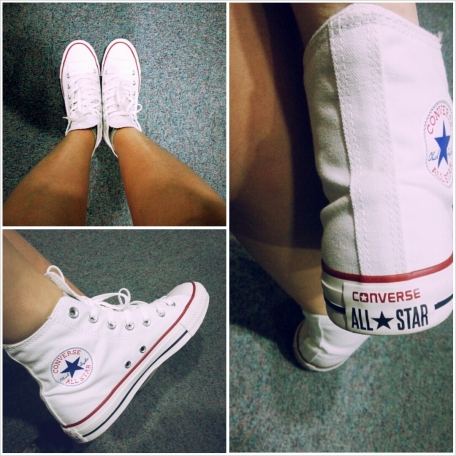 White high top Chuck Taylor