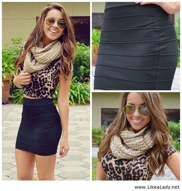 Black-short-skirt